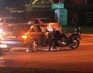 ДТП с участием мотоциклиста и автомобиля Audi.