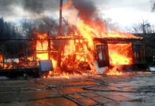 В пейнтбольном клубе «TOPGUN» под Хотьково произошел пожар.