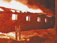 В Сергиевом Посаде сгорел конноспортивный клуб, погибли почти два десятка лошадей. Cпасенных животных разместили в Хотьково.